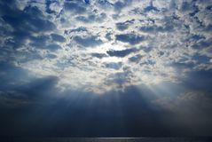 Blue sky and sunbeam Royalty Free Stock Images