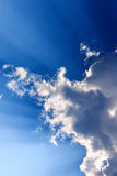 Blue sky with sunlight Royalty Free Stock Photo