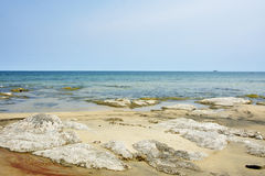 Blue Sky, Sunny Day, Beautiful Beach, Lake Malawi, Africa Royalty Free Stock Image