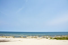Blue Sky, Sunny Day, Beautiful Beach, Lake Malawi, Africa Stock Image