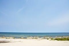 Blue Sky, Sunny Day, Beautiful Beach, Lake Malawi, Africa Stock Image
