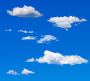 Blue sky in a sunny day Stock Image