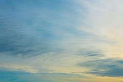 Blue sky ,sunset background Royalty Free Stock Images