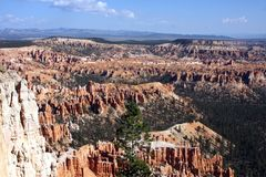 Blue Sky and sunshine in Bryce Canyon royalty free stock photo