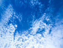 Blue sky surround with cloud. Spread Royalty Free Stock Image