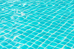 Blue sky swimming pool water texture reflection. Stock Image