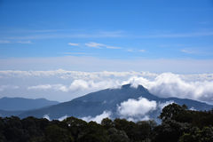 Blue Sky Thailand mountains in the mist and fog. Stock Images