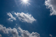 Blue Sky Thin Clouds Royalty Free Stock Images