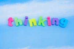 Blue Sky thinking. stock photography
