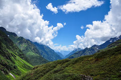 Blue Sky In Tibet. How blue the sky is in Tibet royalty free stock photography