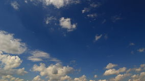 Blue sky timelapse stock footage