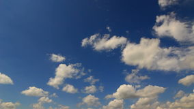 Blue sky timelapse stock video footage