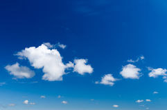 Blue sky with a tiny clouds Royalty Free Stock Photo