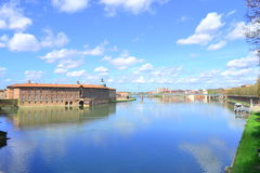 Blue Sky in Toulouse Royalty Free Stock Photos