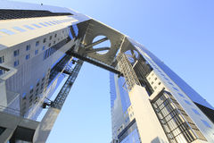 Blue sky  and  Umeda Sky Building in Osaka Japan Royalty Free Stock Photos