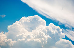 Blue sky. And various cloud formations Royalty Free Stock Photos