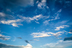 Blue Sky. And various cloud formations Royalty Free Stock Photo
