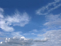 Blue sky with various clouds Royalty Free Stock Photos
