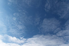 Blue sky. The vast blue sky and clouds sky Royalty Free Stock Photo