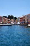 Blue sky in Veli Losinj bay in Croatia Stock Photography