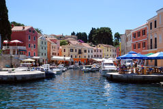 Blue sky in Veli Losinj bay in Croatia Stock Photo