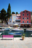 Blue sky in Veli Losinj bay in Croatia Stock Photos
