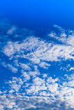 Blue sky Vertical view Royalty Free Stock Image