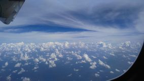 Blue Sky. View from the airplane adventure travelling from Thailand to Malysia Stock Photography