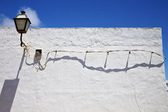In the blue sky wall arrecife teguise lanzarote spain Royalty Free Stock Photo