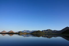 Blue sky and water of Lake Skadar Royalty Free Stock Photography