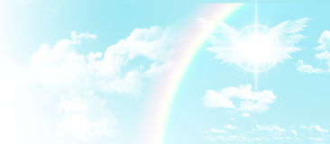 Blue sky website header/banner Stock Image