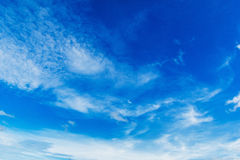 Blue sky whit cloud Royalty Free Stock Photo