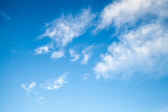 Blue sky with white altocumulus clouds Stock Photography