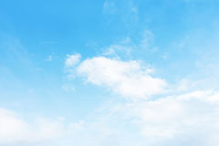 Blue sky with white background. Stock Photography