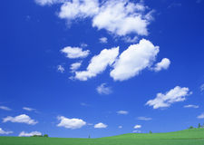 Blue sky white cloud Royalty Free Stock Photos