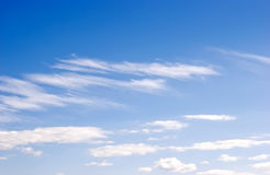 Blue sky and white cloud. Nature  background of  white  clouds  over  blue  sky Stock Photos