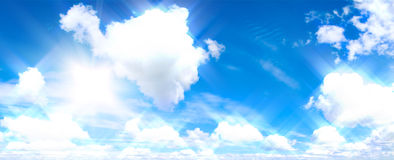 Blue sky and white cloud. Royalty Free Stock Photos