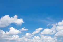 Blue sky. With white cloud Stock Image
