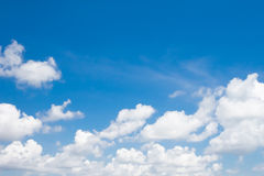 Blue sky. With white cloud Stock Photos