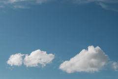 Blue sky. With white cloud Stock Photography