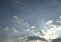 Blue sky. And white cloud background Stock Images