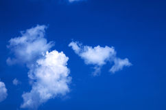 Blue sky background. Blue sky with white cloud background Stock Photos