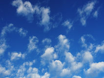 Blue sky and white cloud background Royalty Free Stock Image