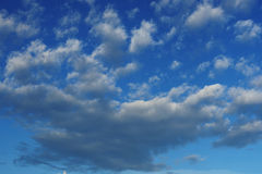 Blue sky and white cloud background Royalty Free Stock Photos
