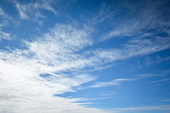 Blue sky with white cloud Stock Images