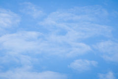 Blue sky with white cloud background Stock Photo