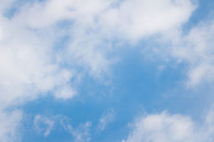 Blue sky with white cloud background Royalty Free Stock Photography