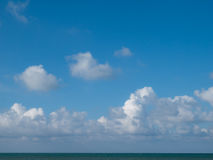 Blue sky with white cloud Stock Image