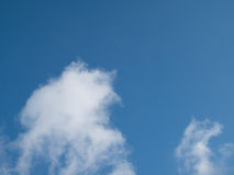 Blue sky with white cloud Royalty Free Stock Photo