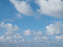 Blue sky with white cloud Stock Photos